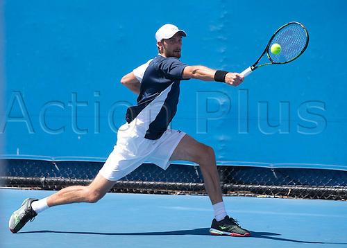18.01.2016. Melbourne Park, Melbourne, Australia. Australian Open Tennis championships. Daniel Brands (ger) mens singles