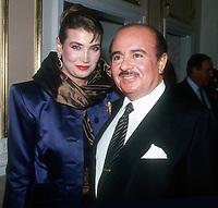 Adnan Kashoggi, wife Soraya Khashoggi, 1980s, Photo By John Barrett/PHOTOlink