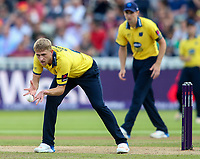 Birmingham Bears' Olly Stone fielding his own bowling<br /> <br /> Photographer Andrew Kearns/CameraSport<br /> <br /> NatWest T20 Blast Semi-Final - Birmingham Bears v Glamorgan - Saturday 2nd September 2017 - Edgbaston, Birmingham<br /> <br /> World Copyright &copy; 2017 CameraSport. All rights reserved. 43 Linden Ave. Countesthorpe. Leicester. England. LE8 5PG - Tel: +44 (0) 116 277 4147 - admin@camerasport.com - www.camerasport.com