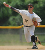 Anthony D'Onofrio #17, Wantagh shortstop, throws to first base for an out during Gam 1 of the best-of-three Nassau County varsity baseball Class A final against Division Avenue at SUNY Old Westbury on Saturday, May 26, 2018. Wantagh won by a score of 5-2.