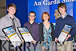 Daniel Carmody, Luke Stafford -Lacey, Ms Brassil(teacher) and Daniel Pierce with their Merit award on Friday adfter they were presented to them at the Lee Strand Garda Youth Award,in The Brandon Hotel, Tralee.....