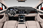Stock photo of straight dashboard view of a 2019 Jaguar I Pace HSE 5 Door Hatchback