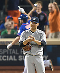 Masahiro Tanaka (Yankees), SEPTEMBER 18, 2015 - MLB : New York Yankees starter Masahiro Tanaka reacts as New York Mets' Daniel Murphy hits a solo home run against the New York Mets in the sixth inning of a baseball game in New York, United States. (Photo by AFLO)