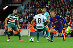 League Santander 2017/2018. Game: 05.<br /> FC Barcelona vs SD Eibar: 6-1.<br /> Inui vs Gerard Deufoleu.