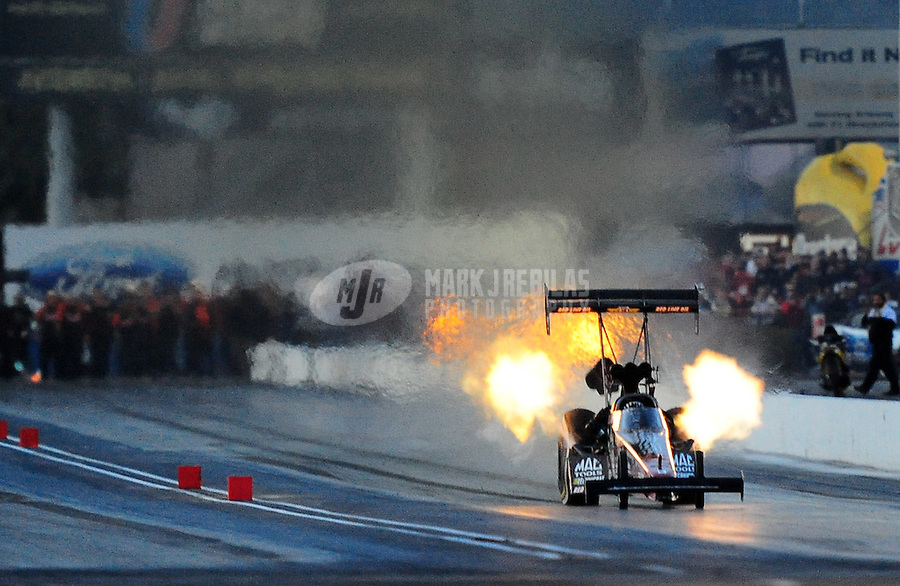 Feb. 21, 2010; Chandler, AZ, USA; NHRA top fuel dragster driver Doug Kalitta during the Arizona Nationals at Firebird International Raceway. Mandatory Credit: Mark J. Rebilas-