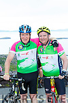 Jimmy Deenihan and Andrew Kearney at the top of  Coommosta during their Ring of Kerry cycle on Saturday morning