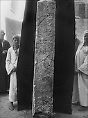 The people of the Ancient Empire...Steles and fragments of bas reliefs, are all carefully inventoried and photographed before storage in the Saqqara storehouses, where they will join the extraordinary finds made by Abdessalam Hussein.....TAIEB HASSABOLLAH/COLLECTION PATRICK CHAPUIS-PHILIPPE FLANDRIN
