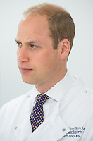 17 May 2016 - London, England - Prince William Duke of Cambridge during a visit to the Royal Marsden NHS Foundation Trust, in Chelsea, west London, as he marks the opening of the hospital's new centre for breast cancer research named after the fashion designer Ralph Lauren. The Ralph Lauren Centre for Breast Cancer Research was funded by supporters of the Royal Marsden Cancer Charity, including a generous donation from the designer. William has a long association with the hospital, he became the Royal Marsden's president in 2007, following in the footsteps of his mother Diana, Princess of Wales, who held the same position from 1989 until her death in 1997. Photo Credit: ALPR/AdMedia