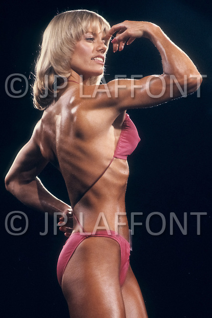 Atlantic City, NJ, April 24, 1981. Susie Green at the Women's World Bodybuilding Championships.