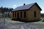 The Sublette log bunkhouse on the C&amp;TS.<br /> C&amp;TS  Sublette, NM