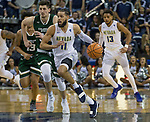 Nevada's Cody Martin on a fastbreak against Colorado State in the second half of an NCAA college basketball game in Reno, Nev., Sunday, Feb. 25, 2018. (AP Photo/Tom R. Smedes)