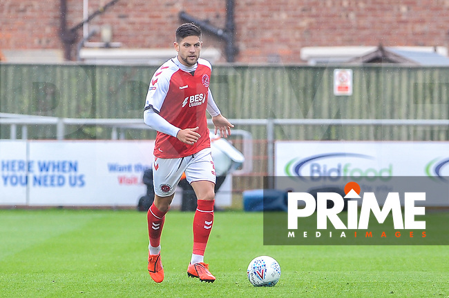 Fleetwood Town's defender Danny Andrew (3) during the Sky Bet League 1 match between Fleetwood Town and AFC Wimbledon at Highbury Stadium, Fleetwood, England on 10 August 2019. Photo by Stephen Buckley / PRiME Media Images.