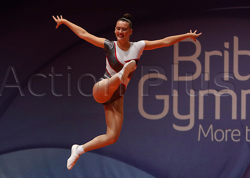 31.07.2015.  Liverpool, England. British Gymnastics Championship Series Day 2. Emily Boyce of the Bulmershe Gymnastics Club competes in the Aerobics British Championships 2015.