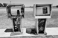 Old gas pumps in Whitesboro, TX