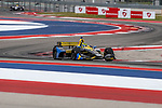 Andretti Autosport driver Zach Veach (26) of United States in action during the practice round at the Circuit of the Americas racetrack in Austin,Texas.