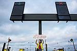 Non à la fermeture de PSA Aulnay. Opération péage gratuit, vendredi 14 septembre 2012. Photo Benjamin Géminel.