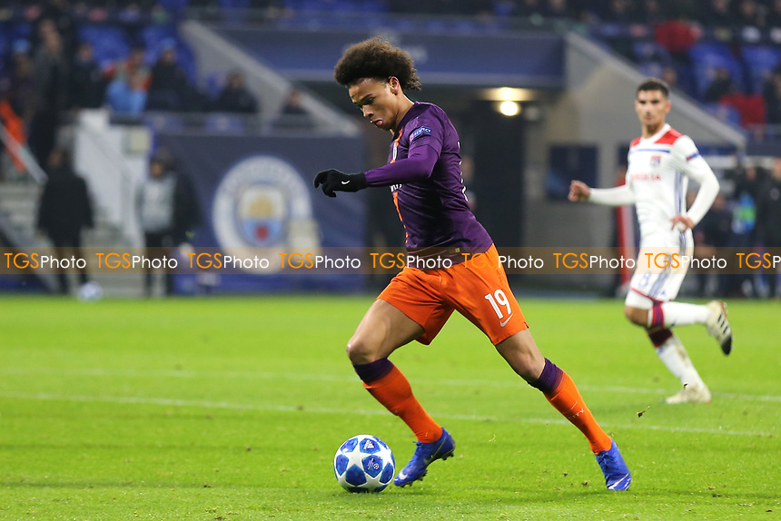 Leroy Sane of Manchester City in action during Lyon vs Manchester City, UEFA Champions League Football at Groupama Stadium on 27th November 2018