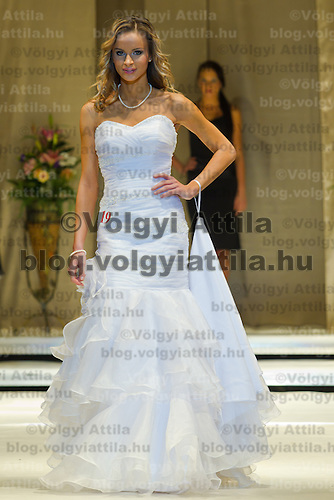 Zsofia Huszar attends the Miss Hungary 2010 beauty contest held in Budapest, Hungary on November 29, 2010. ATTILA VOLGYI