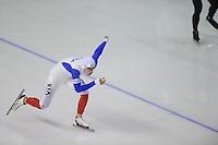 SCHAATSEN: Calgary: Essent ISU World Sprint Speedskating Championships, 28-01-2012, 1000m Heren, Benjamin Macé (FRA), ©foto Martin de Jong