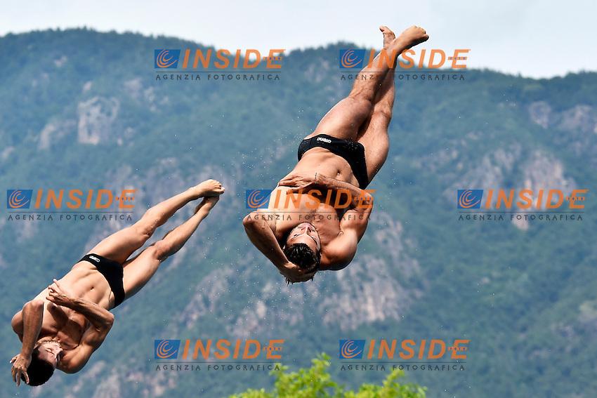 Michele BENEDETTI, Tommaso RINALDI ITA<br /> Synchronised 3m Springboard Men Final - Trampolino Sincro 3m Uomini <br /> Bolzano 03-08-2014 <br /> 20 Fina Diving Grand Prix <br /> Photo Andrea Staccioli/Insidefoto