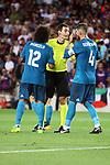 Supercopa de Espa&ntilde;a - Ida.<br /> FC Barcelona vs R. Madrid: 1-3.<br /> Marcelo, Ricardo de Burgos &amp; Sergio Ramos.