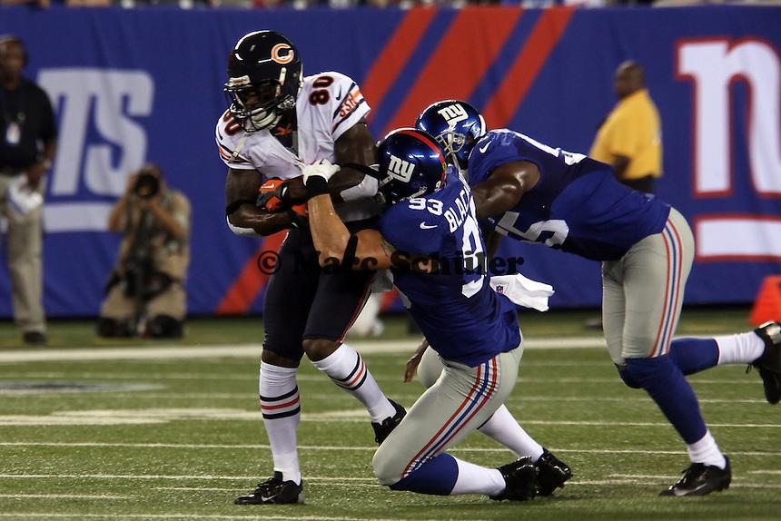 WR Earl Bennett (Bears) gegen LB Chase Blackmon (Giants)