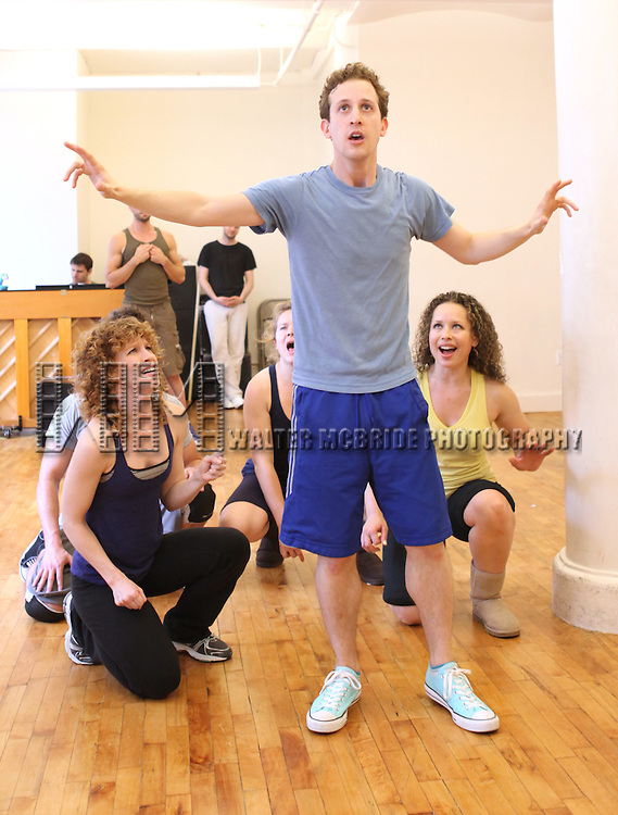 Alex Wyse .with the cast from 'Triassic Parq The Musical'  during a Sneak Peek Rehearsal at the CAP21 Studios in New York City on 5/30/2012. © Walter McBride/WM Photography / Retna Ltd.