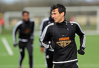 Jack Cork during the Swansea City FC training at Fairwood training ground in Wales, UK on Wednesday 06 April 2016