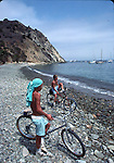 Boys bicycling at Avalon