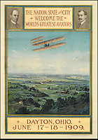 BNPS.co.uk (01202 558833)<br /> Pic: SwannGalleries/BNPS<br /> <br /> ***Please Use Full Byline***<br /> <br /> 1909 Air festival in Ohio - &pound;17,500<br /> <br /> Beautiful posters from the halcyon days of travel up for auction.<br /> <br /> Scarce vintage travel posters promoting holidays across the globe in the 1920's and 30's are tipped to sell for over &pound;200,000 .<br /> <br /> The fine collection of 200 works of art that hark back to the halcyon days of train and boat travel have been brought together for sale.<br /> <br /> The posters were used to advertise dream holiday destinations in far-flung places such as the US and Australia and to celebrate the luxurious ways of getting to them.<br /> <br /> Most of the advertising posters date back to the 1930s and are Art Deco in style and they are all from the original print-run.