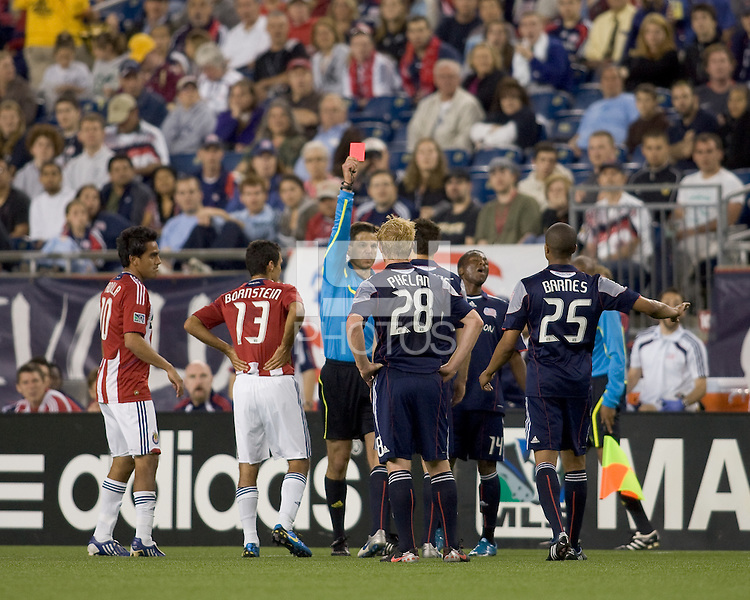 Red card ejection to New England Revolution midfielder Marko Perovic (29). Chivas USA defeated the New England Revolution, 4-0, at Gillette Stadium on May 5, 2010.