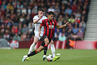 West Ham United's Declan Rice and Bournemouth's Dominic Solanke<br /> <br /> Photographer Rob Newell/CameraSport<br /> <br /> The Premier League - Bournemouth v West Ham United - Saturday 28th September 2019 - Vitality Stadium - Bournemouth<br /> <br /> World Copyright © 2019 CameraSport. All rights reserved. 43 Linden Ave. Countesthorpe. Leicester. England. LE8 5PG - Tel: +44 (0) 116 277 4147 - admin@camerasport.com - www.camerasport.com