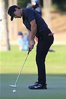 Thorbjorn Olesen (DEN) putts on the 17th green during Saturday's Round 3 of the 2018 Turkish Airlines Open hosted by Regnum Carya Golf &amp; Spa Resort, Antalya, Turkey. 3rd November 2018.<br /> Picture: Eoin Clarke | Golffile<br /> <br /> <br /> All photos usage must carry mandatory copyright credit (&copy; Golffile | Eoin Clarke)
