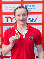 Picture by Allan McKenzie/SWpix.com - 05/08/2017 - Swimming - Swim England National Summer Meet 2017 - Ponds Forge International Sports Centre, Sheffield, England - Ashley Ransome takes gold in the womens 17yrs 50m breaststroke.