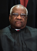 Associate Justice of the Supreme Court Clarence Thomas poses during the official Supreme Court group portrait at the Supreme Court on November 30, 2018 in Washington, D.C. <br /> Credit: Kevin Dietsch / Pool via CNP