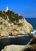 Spanien, Balearen, Mallorca, Punta de Capdepera: Leuchtturm | Spain, Balearic Islands, Mallorca, Punta de Capdepera: lighthouse