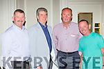 Padraig Brosnan, Noel moynihan, John B Cronin and Joe Quinlan at the 1975 St Brendans college, Killarney class reunion in the Malton Hotel on Saturday night