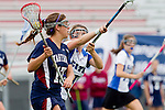 Redondo Beach, CA 05/14/11 - unidentified Cate player and Natasha Grey (St Margaret #17) in action during the 2011 Division 2 US Lacrosse / CIF Southern Section Championship game between Cate School and St Margaret.