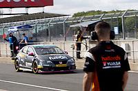 Round 9 of the 2018 British Touring Car Championship. #26 Daniel Lloyd. BTC Norlin Racing. Honda Civic Type R.