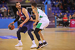 League ACB-ENDESA 2017/2018 - Game: 27.<br /> FC Barcelona Lassa vs Real Betis Energia Plus: 121-56.<br /> Pau Ribas vs Askia Booker.