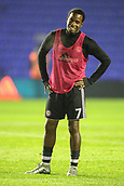 1st November 2017, St. Andrews Stadium, Birmingham, England; EFL Championship football, Birmingham City versus Brentford; Florian Jozefzoon of Brentford warms-up prior to the match