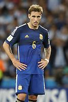Lucas Biglia of Argentina looks dejected