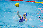INDIANAPOLIS, IN - MAY 14: Alexis Angermund (15) of UCLA passes the ball during the Division I Women's Water Polo Championship held at the IU Natatorium-IUPUI Campus on May 14, 2017 in Indianapolis, Indiana. Stanford edges UCLA, 8-7, to win fifth women's water polo title in the past seven years. (Photo by Joe Robbins/NCAA Photos/NCAA Photos via Getty Images)