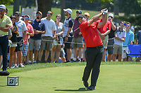 Patrick Reed (USA) watches his tee shot on 8 during 3rd round of the World Golf Championships - Bridgestone Invitational, at the Firestone Country Club, Akron, Ohio. 8/4/2018.<br /> Picture: Golffile | Ken Murray<br /> <br /> <br /> All photo usage must carry mandatory copyright credit (© Golffile | Ken Murray)