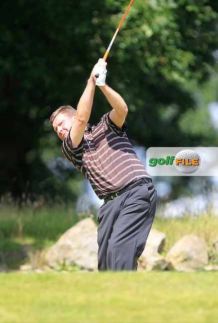 Eddie Doyle (Natural) on the 13th tee during the Johnston Mooney &amp; O'Brien PGA Challenge Round 1 at Carton House Golf Club  7th August 2013 <br /> Picture:  Thos Caffrey / www.golffile.ie