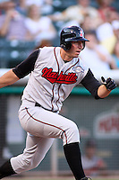 August 10, 2009: Joe Koshansky of the Nashville Sounds, Pacific Cost League Triple A affiliate of the Milwaukee Brewers, during a game at the Spring Mobile Ballpark in Salt Lake City, UT.  Photo by:  Matthew Sauk/Four Seam Images