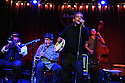 Musician John Boutte at dba bar on Frenchmen street with Mark McGrain, Wendell Brunious, Loren Pickford, Nobu Osaki, and Todd Duke.