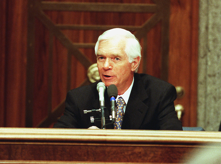 5-26-99.U.S. CHINA RELATIONS--Chairman Thad Cochran, R-Miss., makes his opening statement during the Senate Select Committee hearing on U.S. China relations.   .CONGRESSIONAL QUARTERLY PHOTO BY DOUGLAS GRAHAM