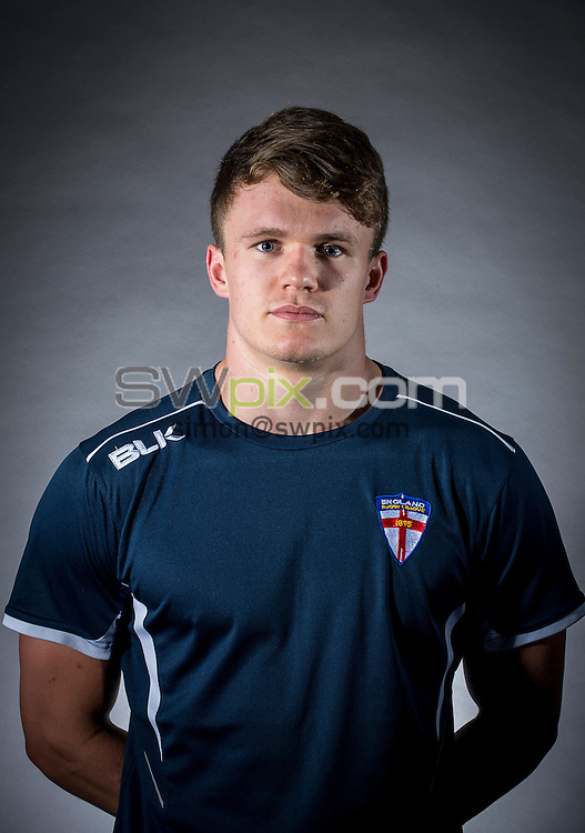 Picture by Allan McKenzie/SWpix.com - 29/06/16 - Rugby League - England Rugby League Academy Headshots - Challenge4Change, Manchester, England - Ryan Jones.