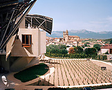 SPAIN, Frank Gehry, Elciego, La Rioja, Marques de Riscal, vineyard and residential structures